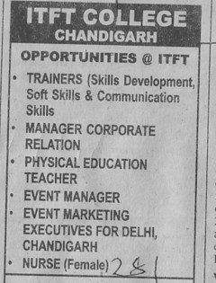 Trainers and Event Manager (ITFT-Institute of Tourism and Future Management Trends)