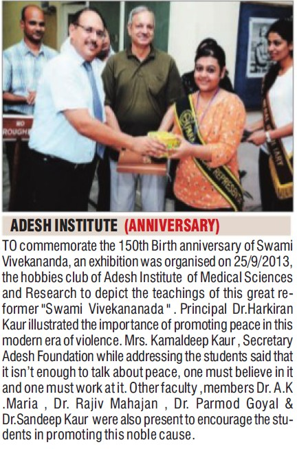 150th Birth Anniversary of Adesh Institute (Adesh Institute of Medical Sciences and Research)
