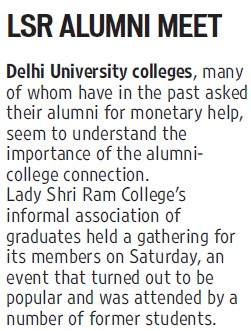 LSR Alumni Meet (Delhi University)