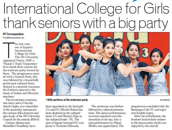 ICG thank seniors with big party (International College for Girls)