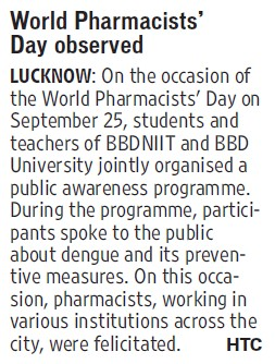 World Pharmacists day observed (BBD University)