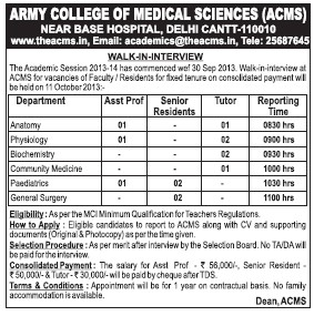 Senior Residents (Army College of Medical Sciences)