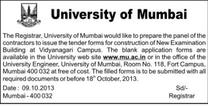 Construction of New Examination Building (University of Mumbai (UoM))