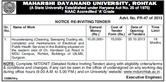 Maintenance of Electrical services (Maharshi Dayanand University)