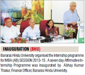 Internship Programme for MBA (Banaras Hindu University)