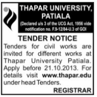 Civil Works (Thapar Institute of Engineering and Technology University)