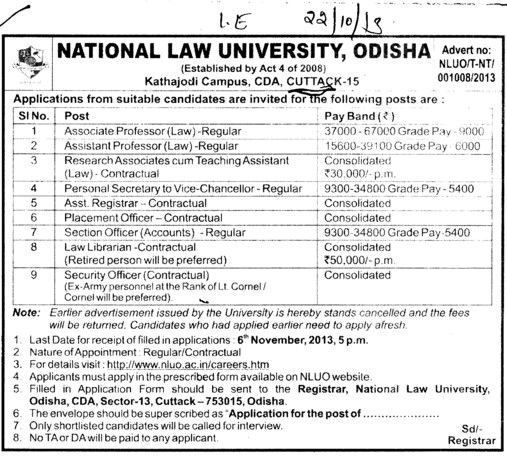 Security Officer (National Law University)