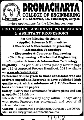 Asstt and Asso Professor (Dronacharya College of Engineering (DCE))