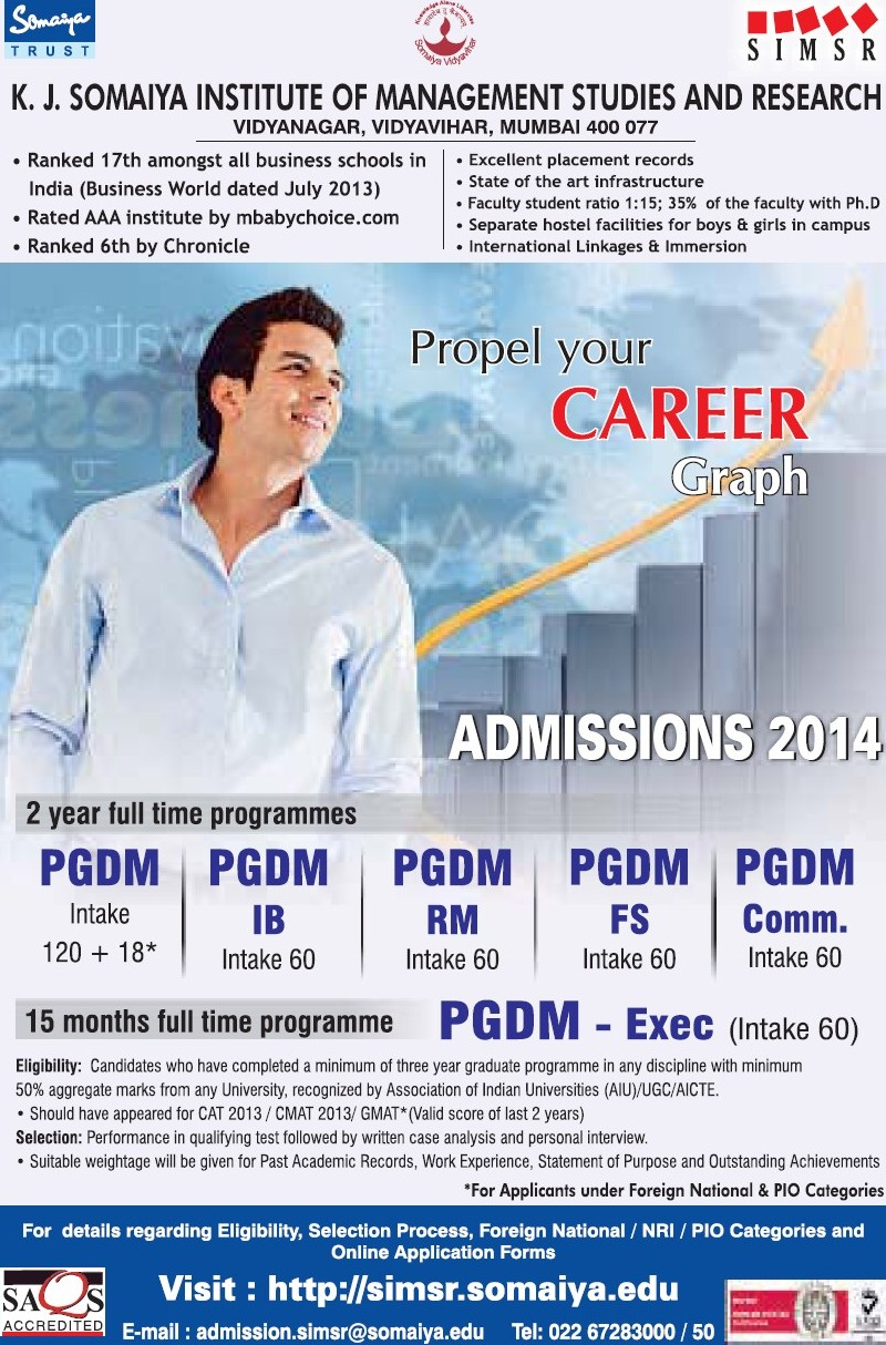 Post Graduate Diploma in Management (Somaiya Institute of Management Studies and Research (SIMSR))