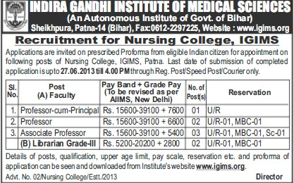 Professor cum Principal (Indira Gandhi Institute of Medical Sciences (IGIMS))