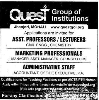 Administrative Staff (Quest Group of Institutions)
