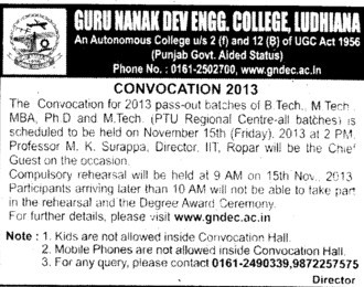 BTech and MTech course (Guru Nanak Dev Engineering College (GNDEC))