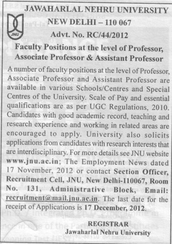 Associate Professor (Jawaharlal Nehru University)