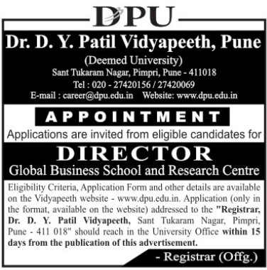 Director (Dr DY Patil University)