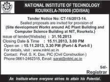 Site Development works (National Institute of Technology (NIT))