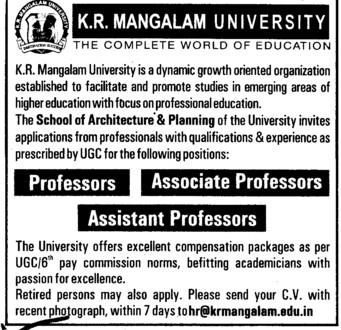 Associate Professor (KR Mangalam University)