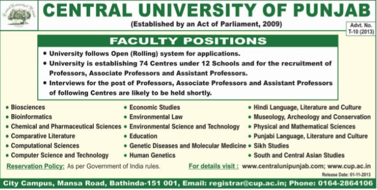 Associate Professor (Central University of Punjab)