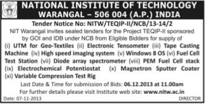 Supply of Diode imaging system (National Institute of Technology NIT)