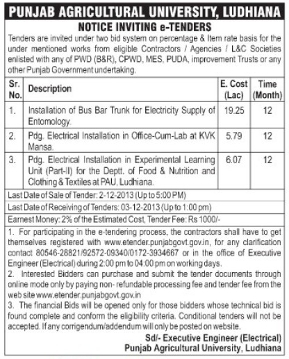 Supply of Entomology (Punjab Agricultural University PAU)