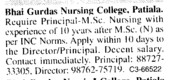 Principal on regular basis (Bhai Gurdas General Nursing School)