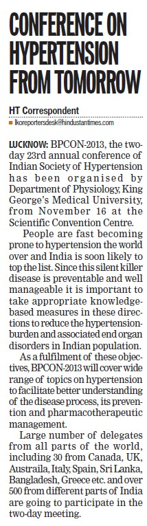 Conference on Hypertension (KG Medical University Chowk)