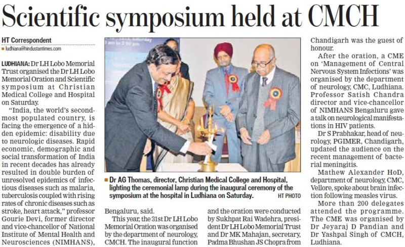 Scientific symposium held at CMCH (Christian Medical College and Hospital (CMC))