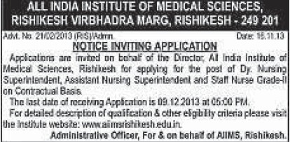 Deputy Nursing Superintendent (All India Institute of Medical Sciences (AIIMS))