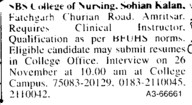 Clinical Instructor (SBS Institute of Nursing)