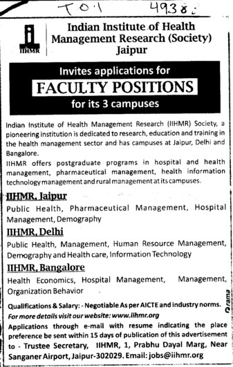 Post Graduate Programs in Hospital and Health Management (Sanskriti Group of Institutions)