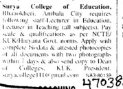 Lecturer for English (Surya College of Education)