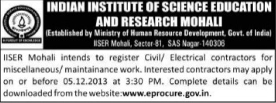 Electrical and Civil works (Indian Institute of Science Education and Research (IISER))