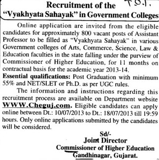 Asstt Professor for Commerce (Mahila College of Education)