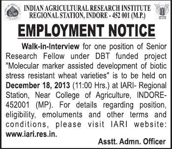 Indian Agricultural Research Institute New Delhi Delhi