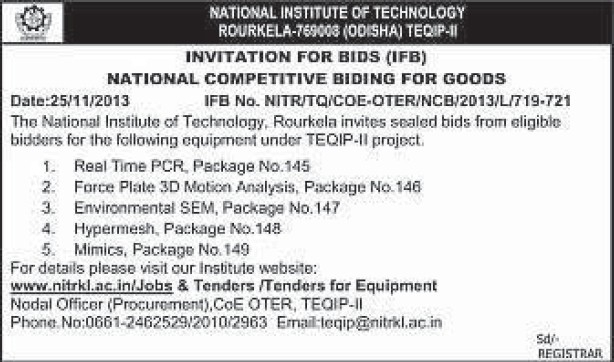 Supply of Force Plate 3D motion analysis (National Institute of Technology (NIT))