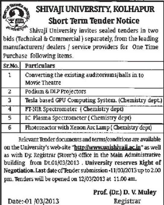 Supply of IC Plasma Spectrometer (Shivaji University)