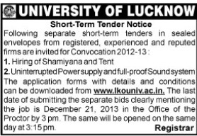 Supply of Sound system (Lucknow University)