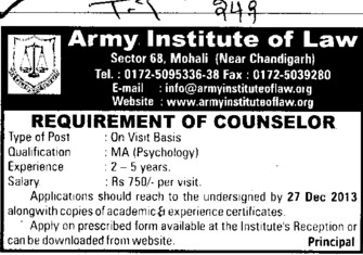 Counselor (Army Institute of Law)