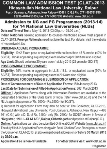 Post Graduate Programme (Hidayatullah National Law University (HNLU))