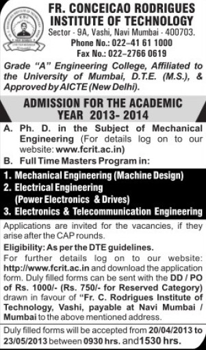 PhD in Mechanical Engineer (Fr Conceicao Rodrigues Institute of Technology)