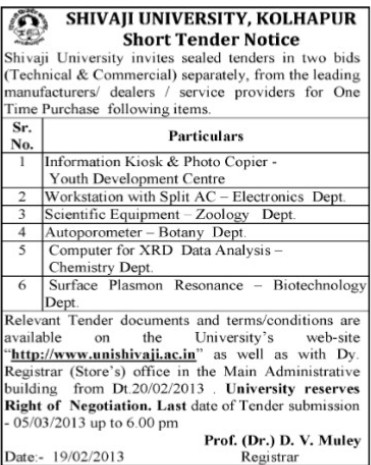 Supply of Surface Plasmon Resonance (Shivaji University)
