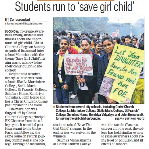 Students run to save girl child (Stella Maris College)