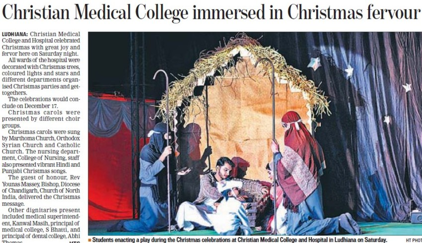 CMC immersed in Christmas fevour (Christian Medical College and Hospital (CMC))