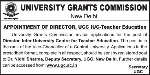 Experienced Director (University Grants Commission (UGC))