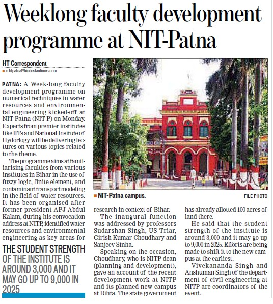 Faculty development Programme held (National Institute of Technology NIT)