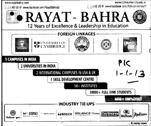 Profile of Rayat and Bahra Group (Rayat and Bahra Group)