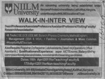 Registrar and Lab Technician (Direction)