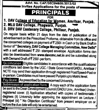 Principal (DAV College of Education for Women)