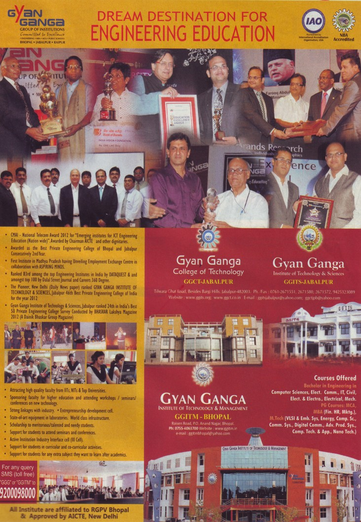 BE in CSE and ECE (Gyan Ganga Institute of Technology and Sciences (GGITS))