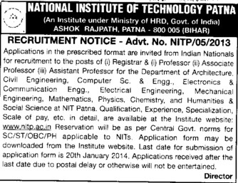 Asstt Professor for CSE and ECE (National Institute of Technology NIT)