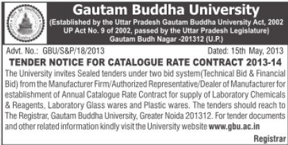 Catalogue rate (Gautam Buddha University (GBU))